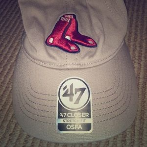 Brand new Boston Red Sox cap with socks logo
